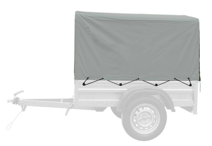 Kapell med ramme for Garden Trailer 150